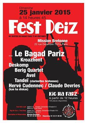 Affiche Fest-deiz Kabaret-Noz à Paris