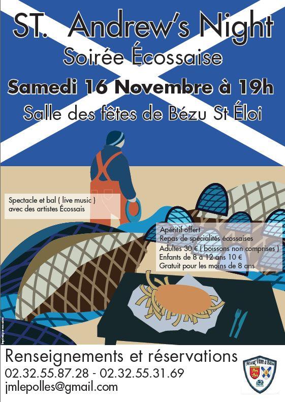 Affiche Autre soirée écossaise St Andrew's night à Bézu-Saint-Éloi