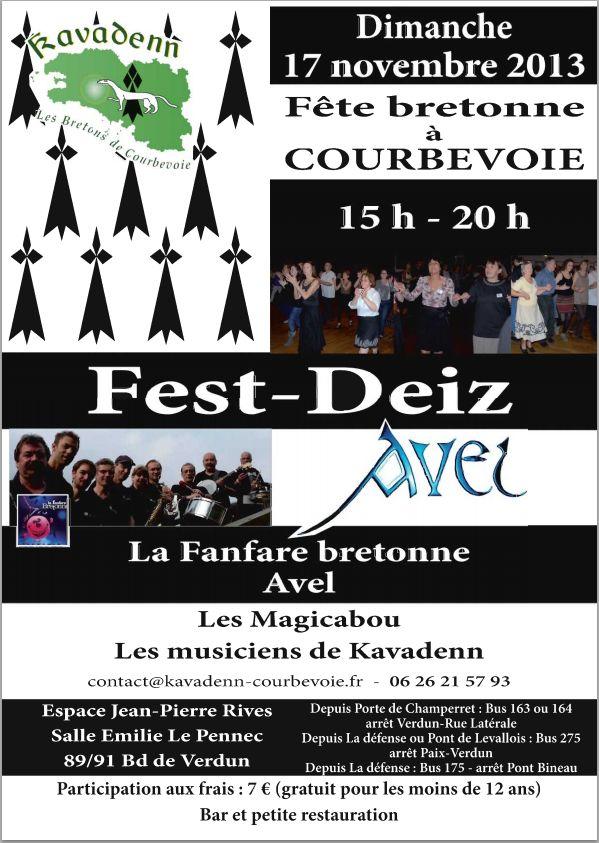 Affiche Fest-deiz  à Courbevoie