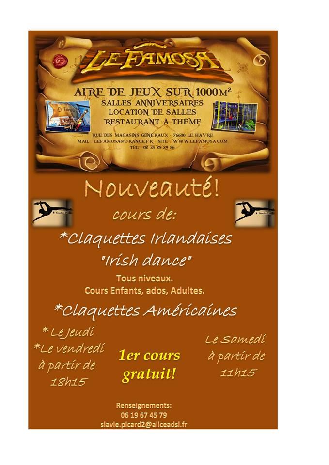 Affiche Atelier cours d'<strong>irish dance</strong> à Le Havre