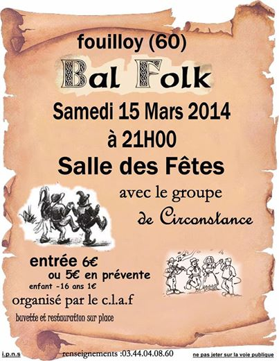 Affiche Bal folk  à Fouilloy