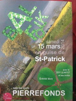 Affiche Bal folk St-Patrick à Pierrefonds