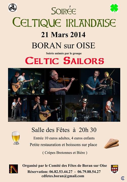Affiche Concert soirée celtique irlandaise de Boran sur Oise 2014 (3ème édition) à Boran-sur-Oise