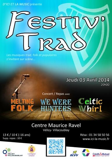 Affiche Concert Festiv' Trad 2014 à Vélizy-Villacoublay