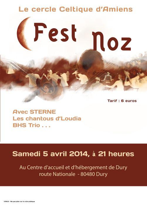 Affiche Fest-noz  à Dury