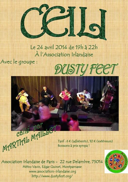 Affiche Céili grand Ceili à l'association irlandaise à Paris