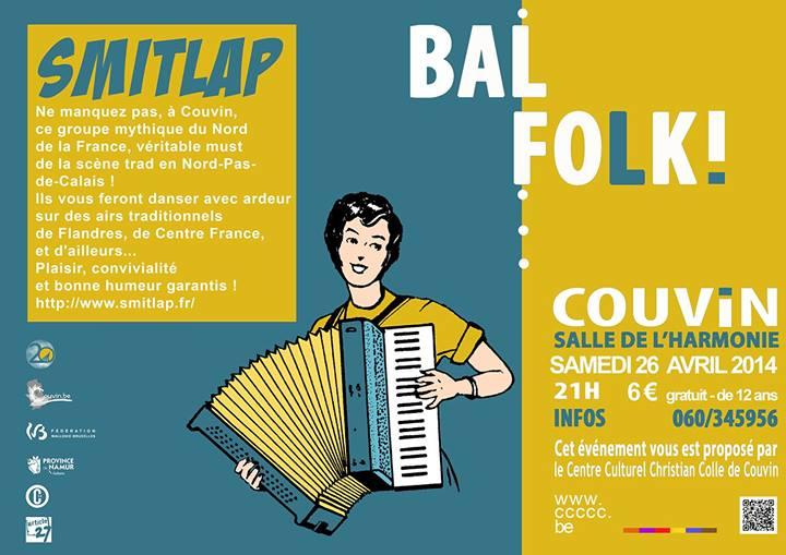 Affiche Bal folk  à Couvin