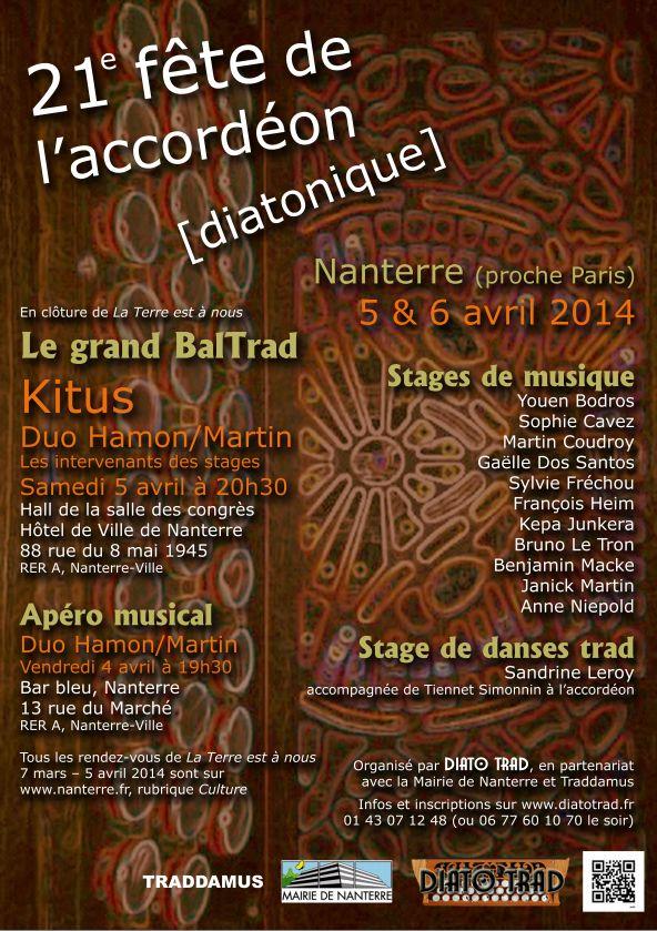 Affiche Autre 21ème fête de l'accordéon diatonique à Nanterre