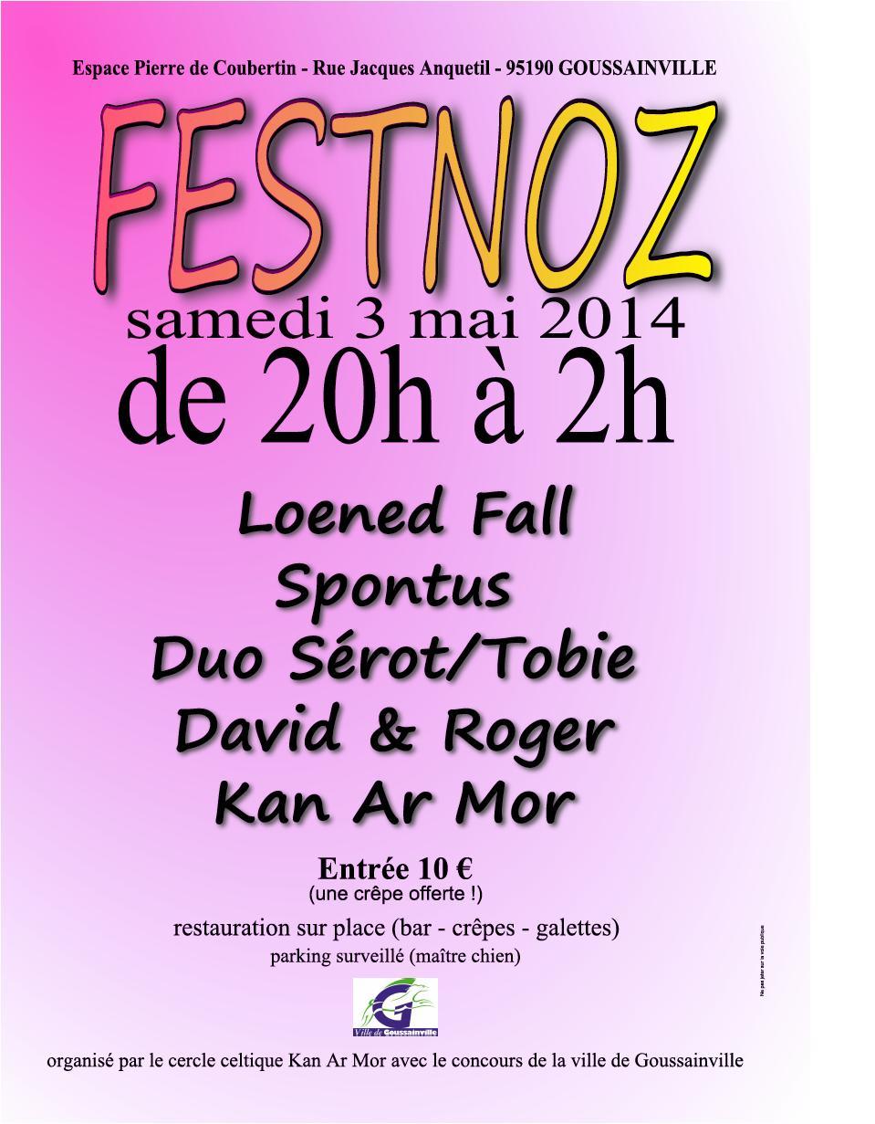 Affiche Fest-noz  à Goussainville