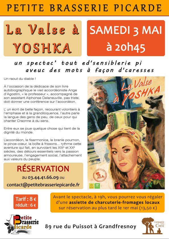 Affiche Spectacle La Valse à Yoshka à Grandfresnoy