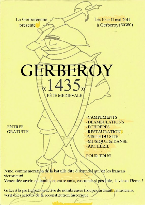 Affiche Bal folk Gerberoy 1435 (folk et médiéval) à Gerberoy