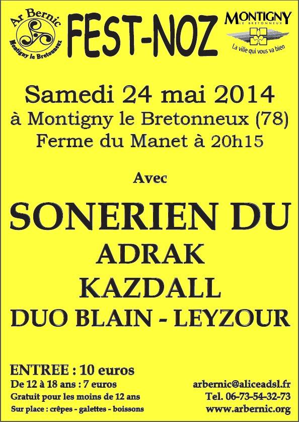 Affiche Fest-noz  à Montigny-le-Bretonneux