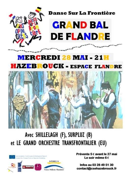 Affiche Bal folk grand bal de Flandre à Hazebrouck