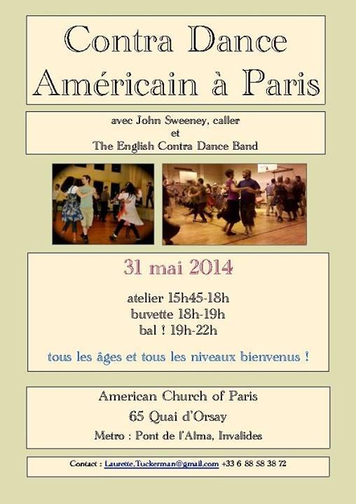 Affiche Bal contra dance Contra Dance Americain a Paris à Paris