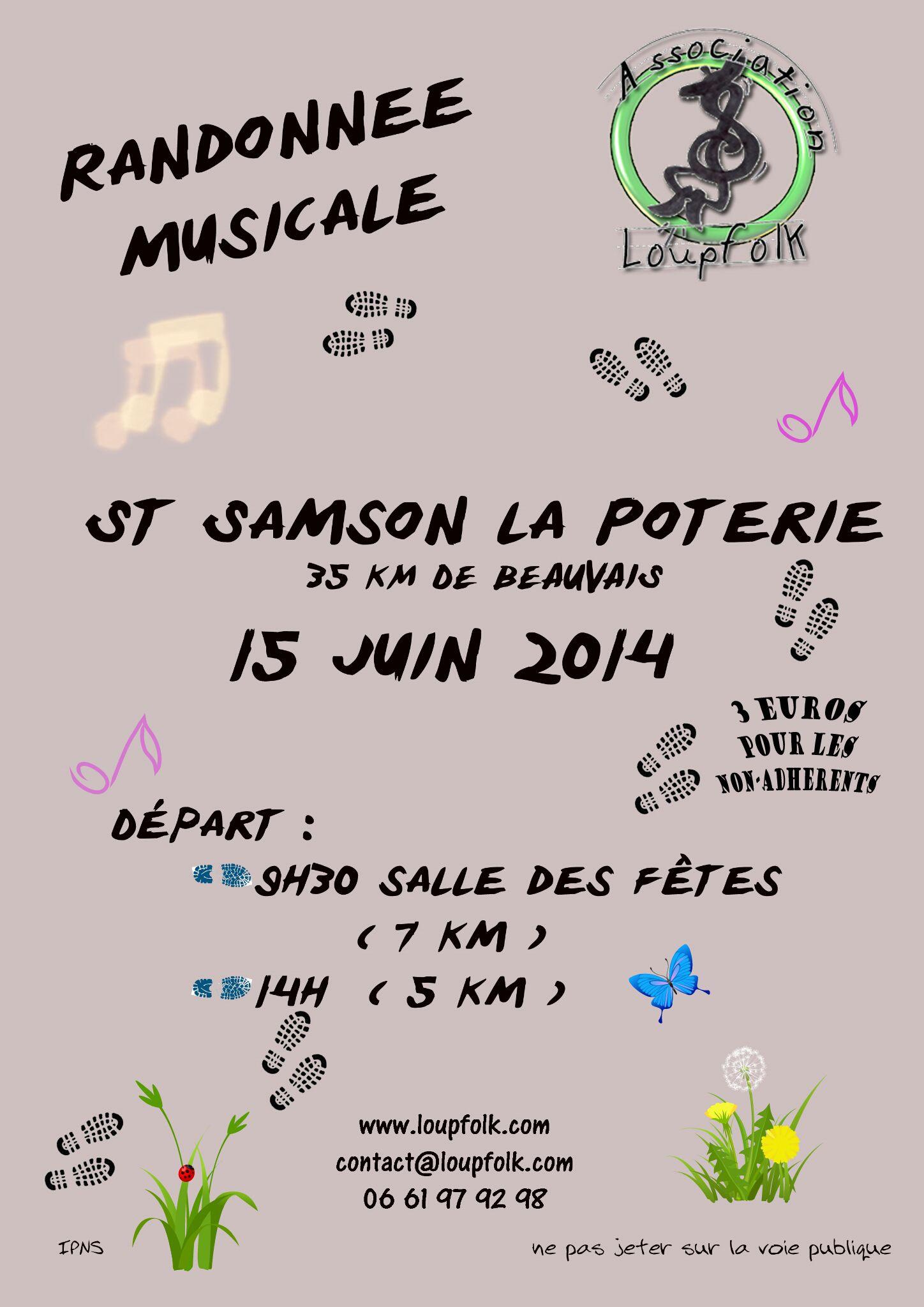 Affiche Autre randonnée trad musicale et chantée à Saint-Samson-la-Poterie