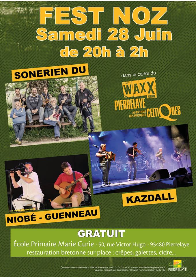Affiche Fest-noz  à Pierrelaye