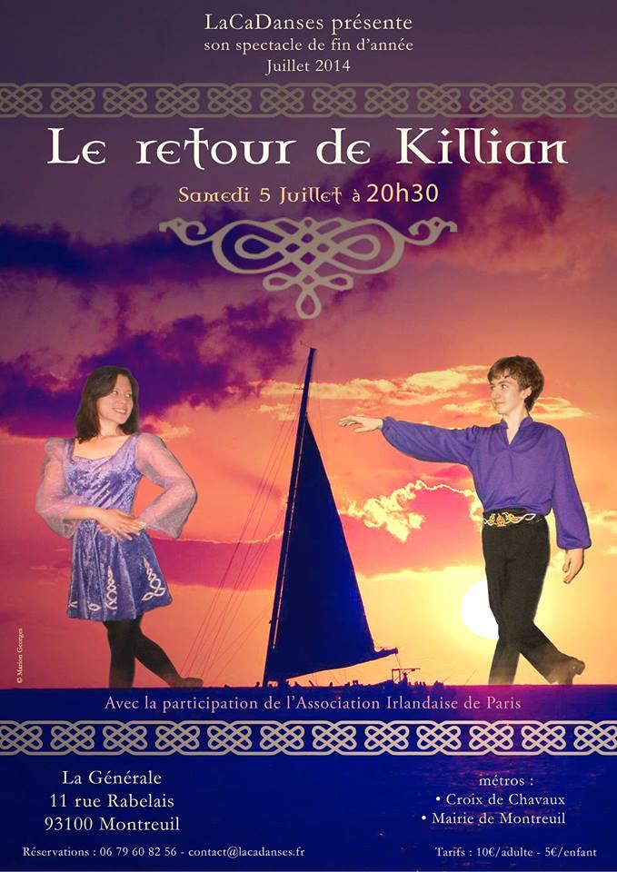Affiche Spectacle Le retour de Killian à Montreuil