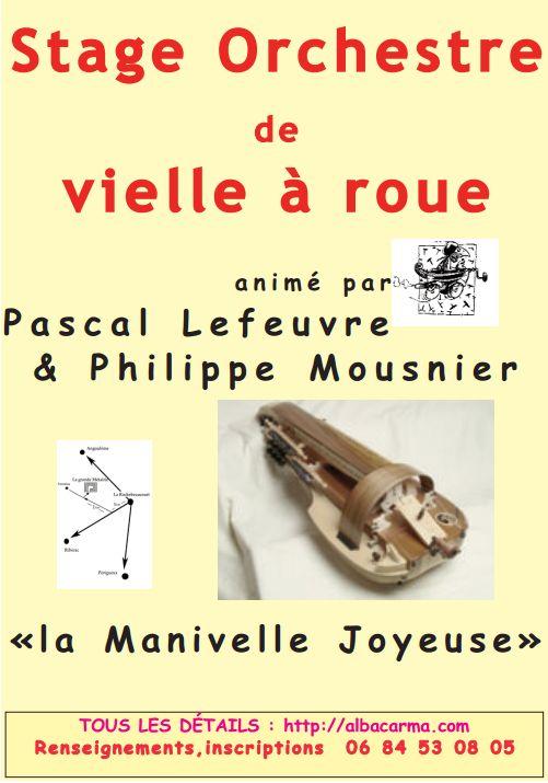 Affiche Stage orchestre de vielle à roue à La Rochebeaucourt en Périgord
