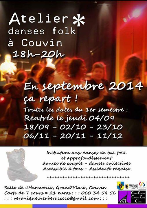 Affiche Atelier danses folk à Couvin