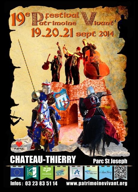 Affiche Festival 19ème festival Patrimoine Vivant à Château-Thierry