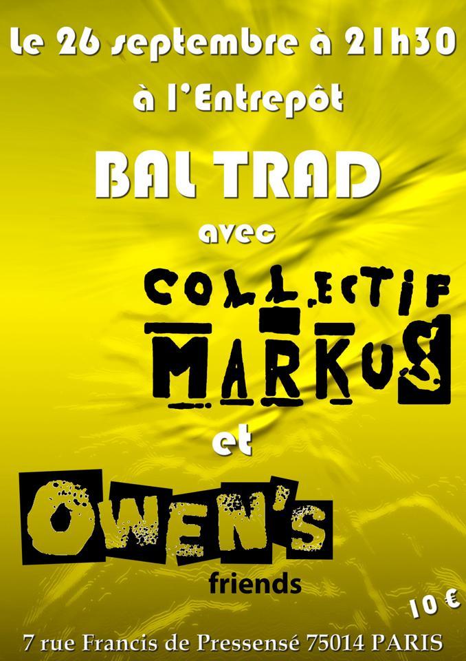 Affiche Bal folk bal trad à l'Entrepôt à Paris