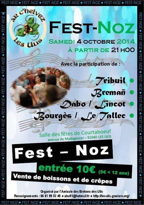 Affiche Fest-noz  à Les Ulis