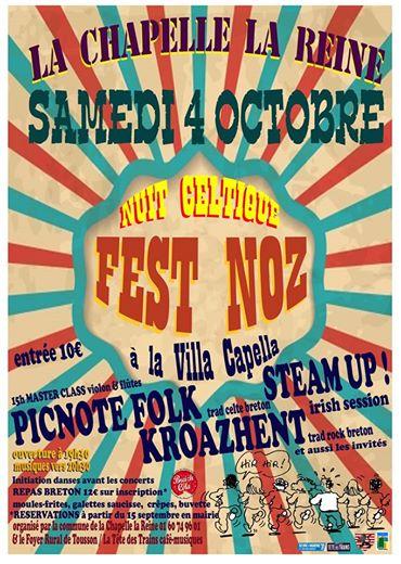 Affiche Fest-noz 3ème nuit celtique à La Chapelle-la-Reine