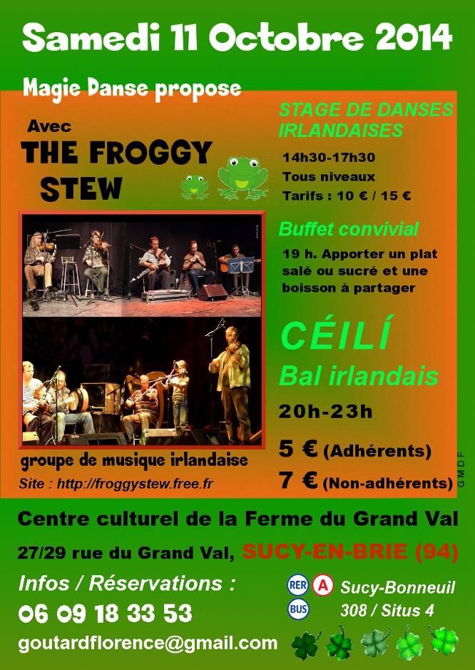 Affiche Bal folk <strong>ceili bal irlandais</strong> et atelier de danse à Sucy-en-Brie
