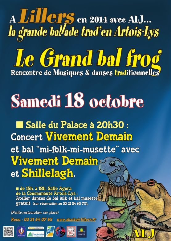 Affiche Bal folk atelier, concert et bal