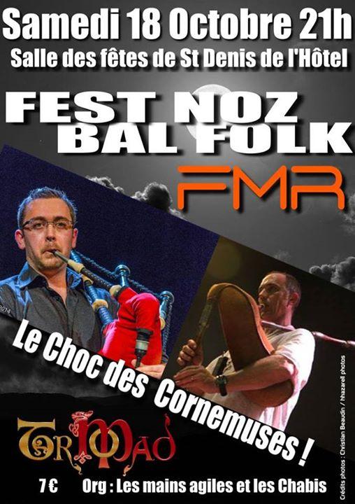 Affiche Bal folk Fest noz bal folk à Saint Denis de l'Hôtel