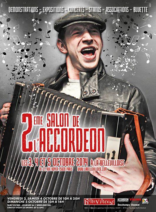 Affiche Autre 2ème salon de l'accordéon à Paris