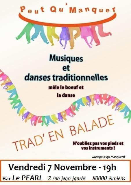 Affiche Musique Trad'en balade à Amiens