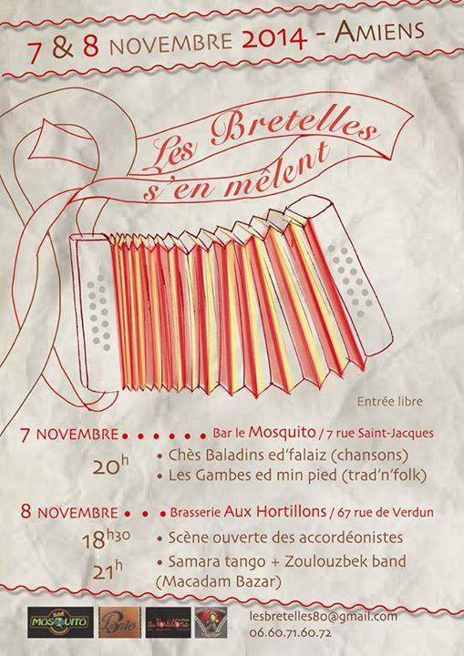 Affiche Festival Les bretelles s'en mêlent à Amiens