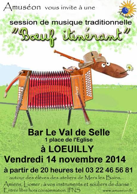 Affiche Musique boeuf itinérant à Lœuilly