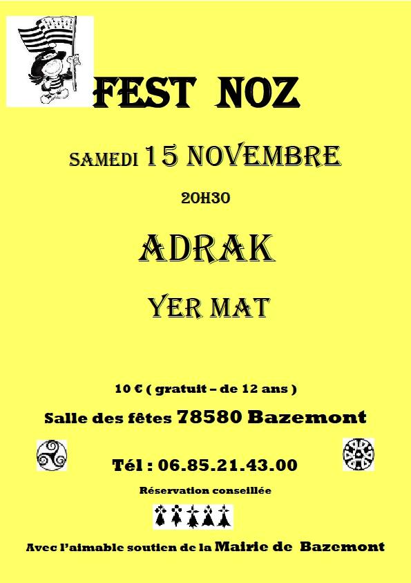 Affiche Fest-noz  à Bazemont