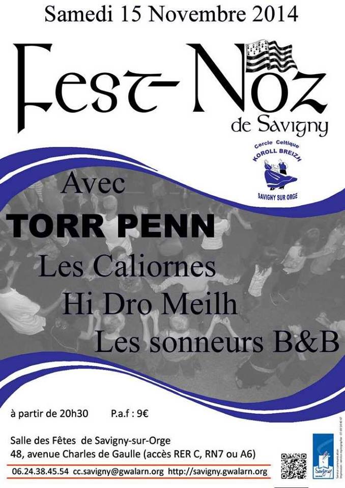 Affiche Fest-noz  à Savigny-sur-Orge