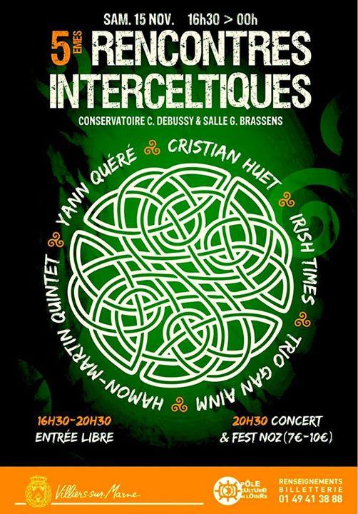 Affiche Fest-noz 5èmes Rencontres Inter-celtiques de Villiers sur Marne à Villiers-sur-Marne