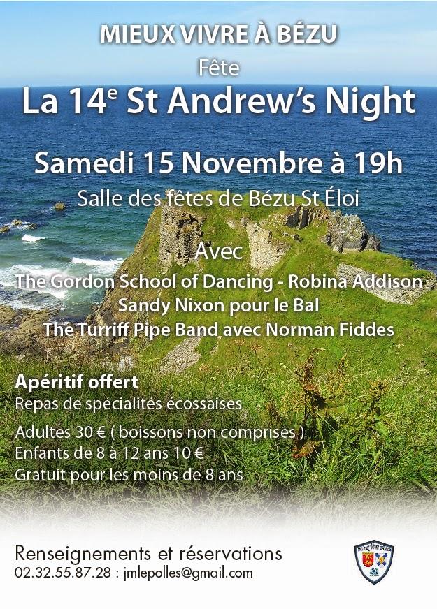 Affiche Spectacle 14ème St Andrew's Night à Bézu-Saint-Éloi
