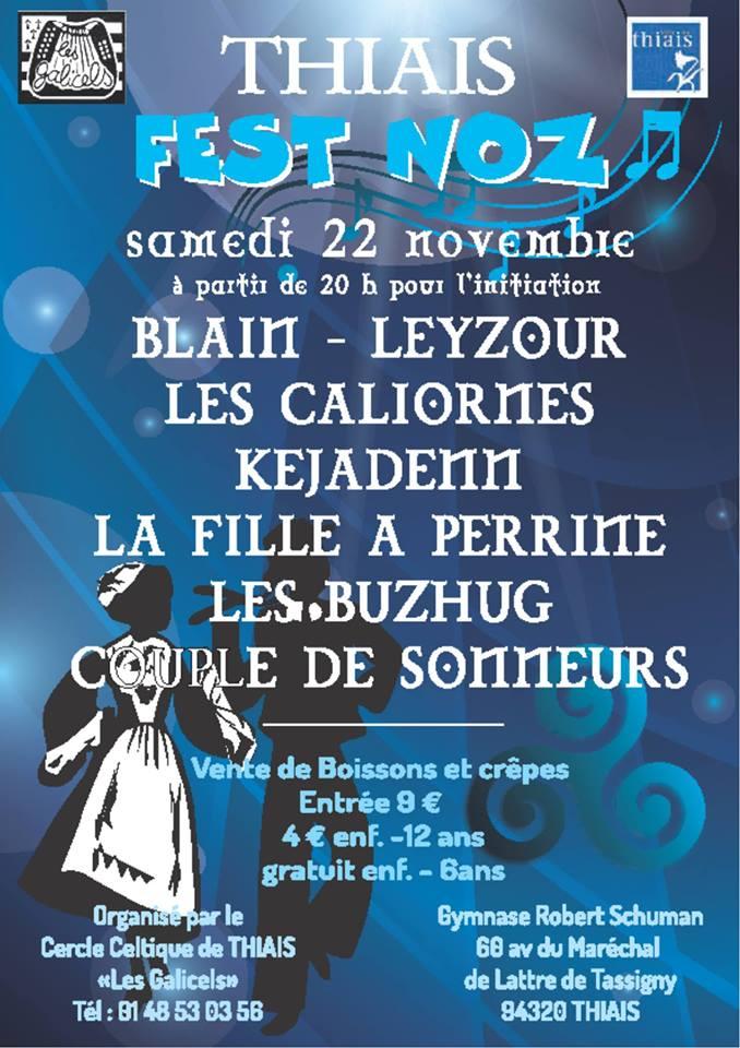 Affiche Fest-noz  à Thiais