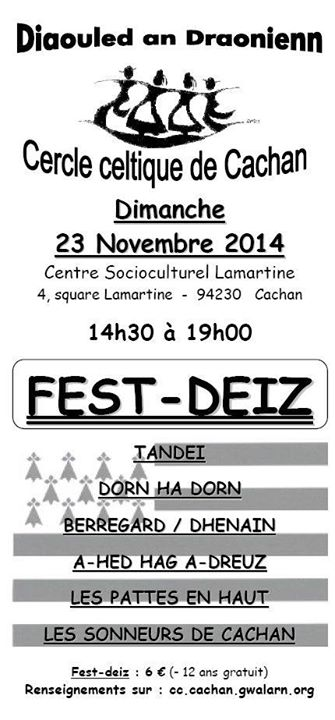 Affiche Fest-deiz Diaouled an Draoñienn à Cachan