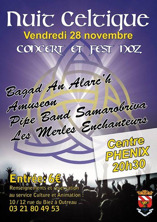 Affiche Fest-noz Nuit celtique, concert et fest-noz à Outreau