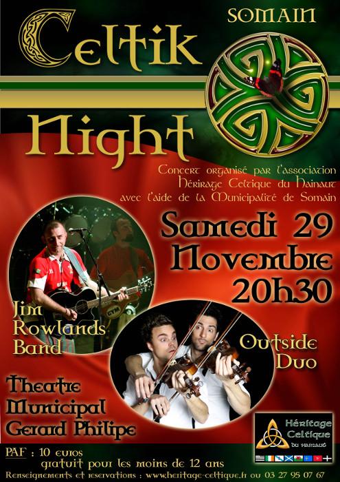 Affiche Concert Celtik Night à Somain