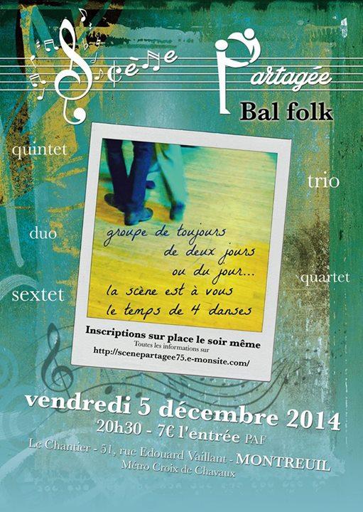Affiche Bal folk  à Montreuil