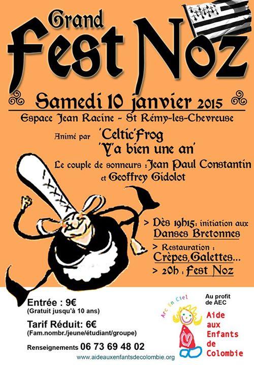 Affiche Fest-noz fest-noz de St-Rémy-lès-Chevreuse à Saint-Rémy-lès-Chevreuse