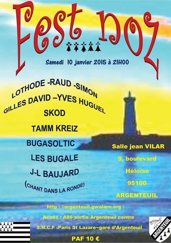Affiche Fest-noz fest noz annuel des Bretons d'Argenteuil à Argenteuil