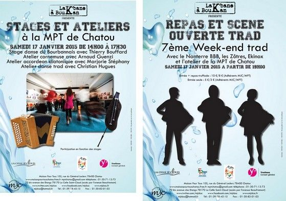Affiche Bal folk 7e week-end trad de Chatou La Celle St Cloud à Chatou