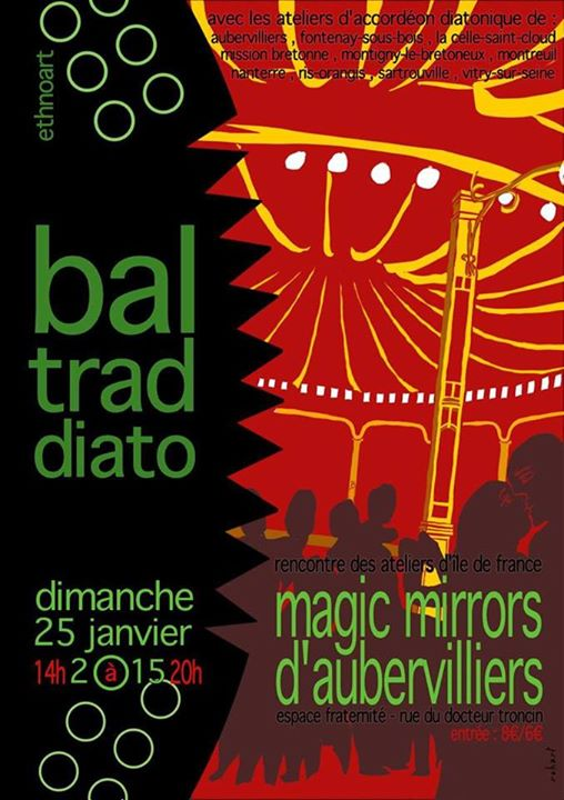 Affiche Bal folk  à Aubervilliers