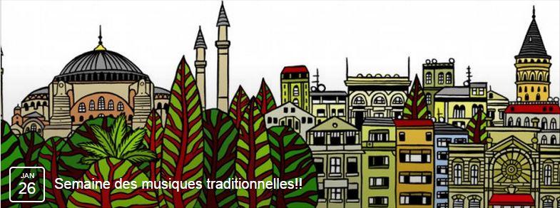 Affiche Festival semaine des musiques traditionnelles au conservatoire de Rouen à Rouen