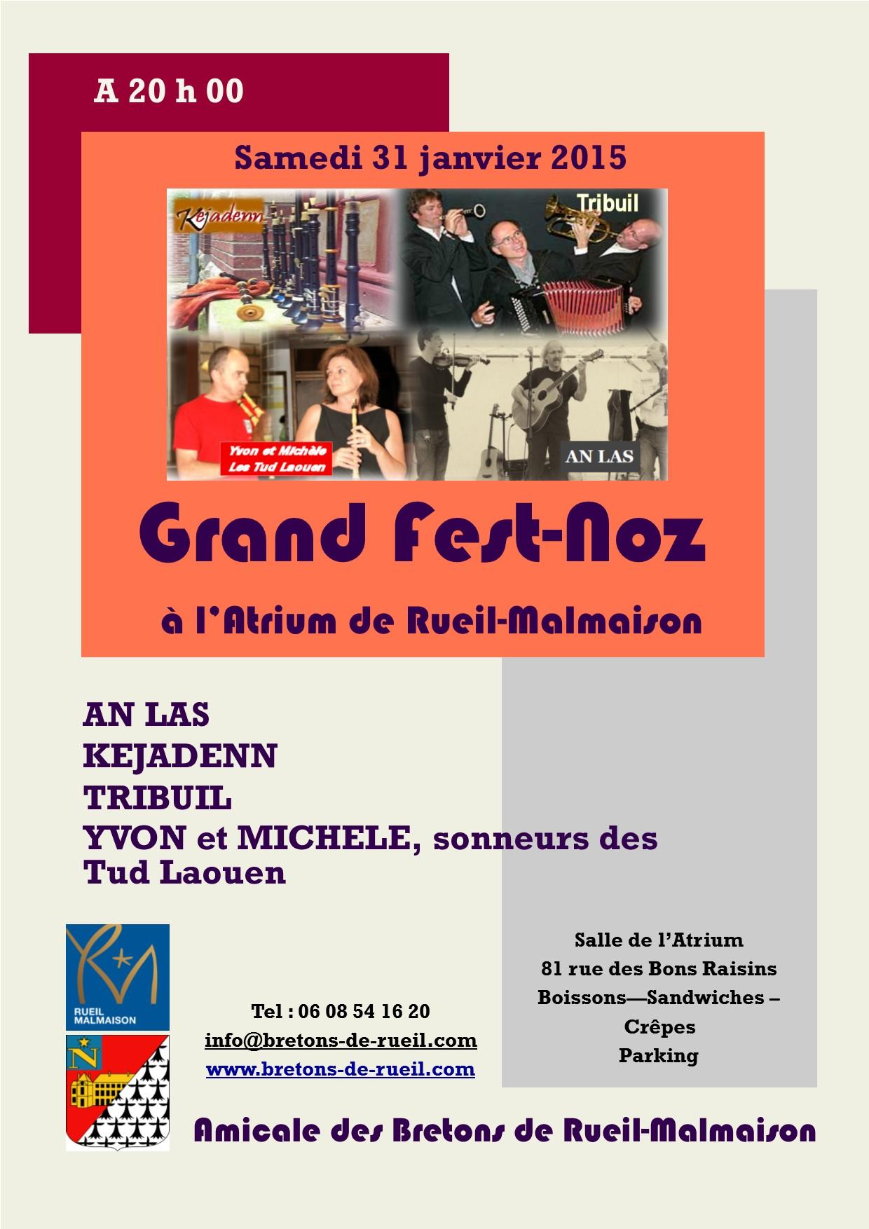 Affiche Fest-noz  à Rueil-Malmaison