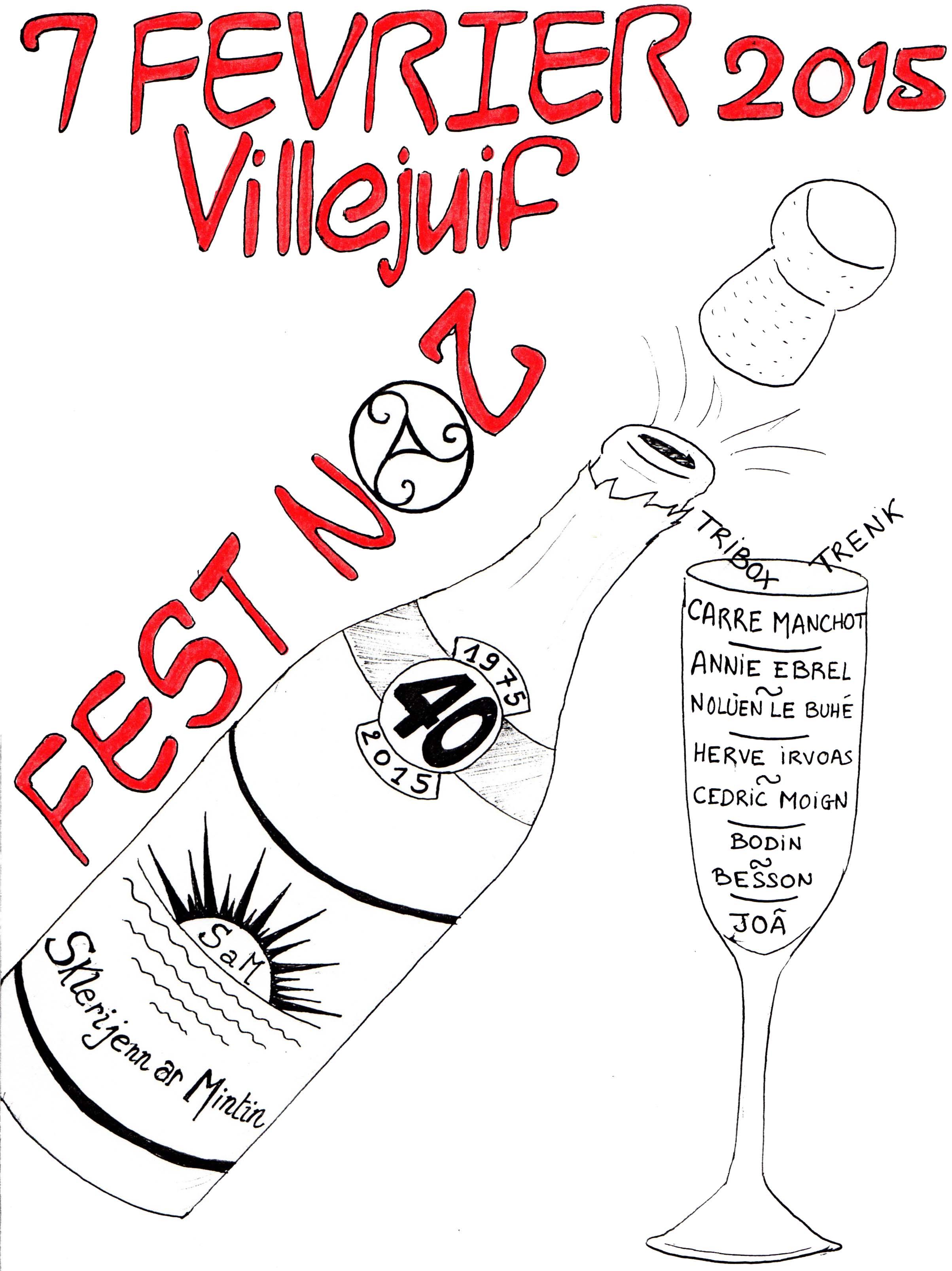 Affiche Fest-noz  à Villejuif